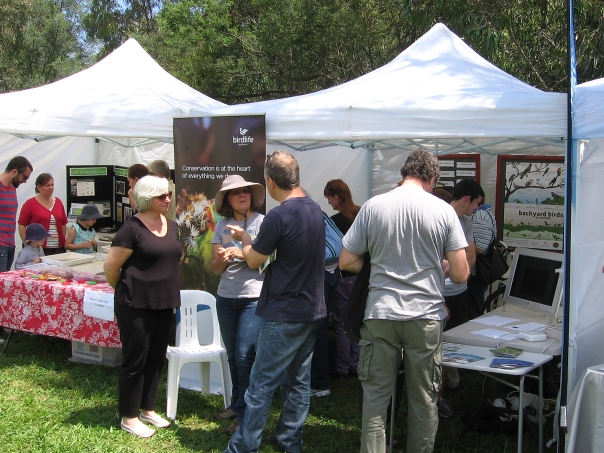 BirdLife Melbourne tent doing brisk business