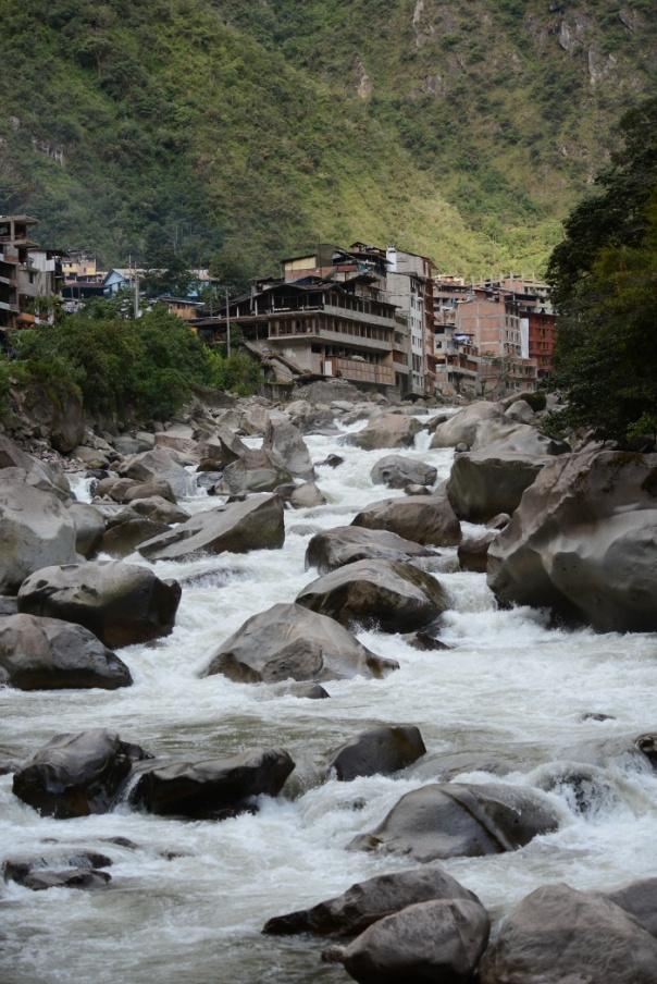 River at Aguas Calientes (Photo Val & Peter Fowler)