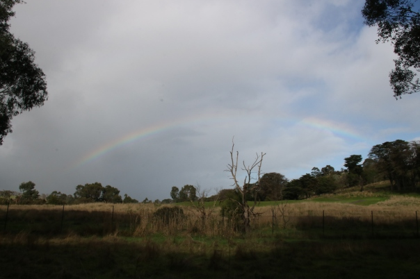 Rainbow at start of the walk - Sanderson